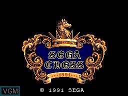 Title screen of the game Sega Chess on Sega Master System