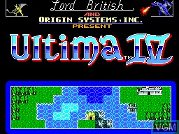Title screen of the game Ultima IV - Quest of the Avatar on Sega Master System