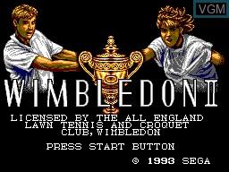 Title screen of the game Wimbledon II on Sega Master System