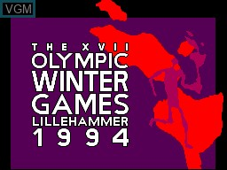 Title screen of the game Winter Olympics '94 on Sega Master System