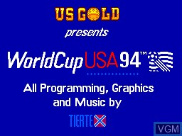 Title screen of the game World Cup '94 on Sega Master System