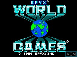 Title screen of the game World Games on Sega Master System