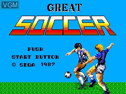 Title screen of the game World Soccer on Sega Master System