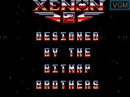 Title screen of the game Xenon 2 on Sega Master System