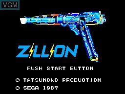 Title screen of the game Akai Koudan Zillion on Sega Master System