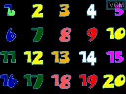 Menu screen of the game 20-em-1 on Sega Master System