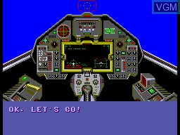 Menu screen of the game Aerial Assault on Sega Master System