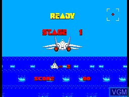 Menu screen of the game After Burner on Sega Master System