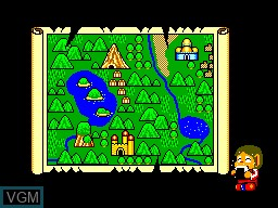 Menu screen of the game Alex Kidd in Miracle World on Sega Master System