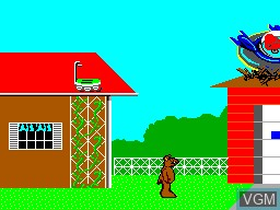 Menu screen of the game ALF on Sega Master System