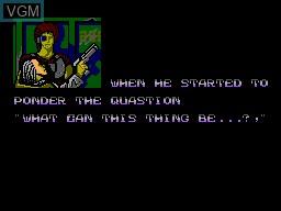 Menu screen of the game Assault City - Pad Version on Sega Master System