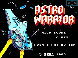 Menu screen of the game Astro Warrior & Pit Pot on Sega Master System