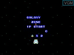 Menu screen of the game Astro Warrior on Sega Master System