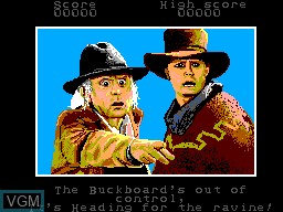 Menu screen of the game Back to the Future Part III on Sega Master System