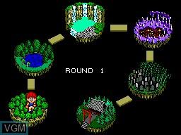 Menu screen of the game Basket Ball Nightmare on Sega Master System