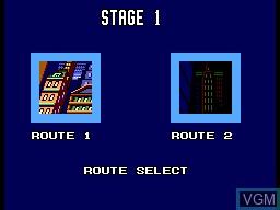 Menu screen of the game Batman Returns on Sega Master System