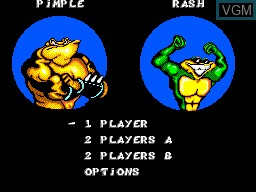 Menu screen of the game Battlemaniacs on Sega Master System