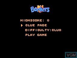 Menu screen of the game Bonkers Wax Up! on Sega Master System