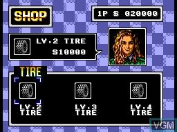 Menu screen of the game Buggy Run on Sega Master System