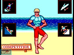 Menu screen of the game California Games II on Sega Master System