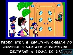 Menu screen of the game Castelo Ra Tin Bum on Sega Master System