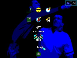 Menu screen of the game Champions of Europe on Sega Master System