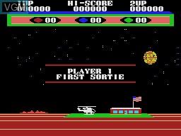 Menu screen of the game Choplifter on Sega Master System