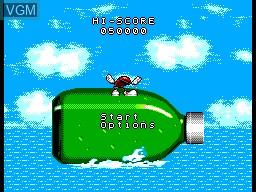 Menu screen of the game Cool Spot on Sega Master System