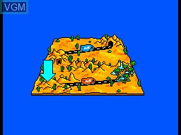Menu screen of the game Desert Speedtrap - Starring Road Runner and Wile E. Coyote on Sega Master System