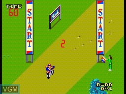 Menu screen of the game Enduro Racer on Sega Master System