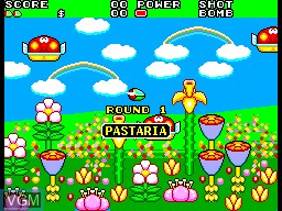 Menu screen of the game Fantasy Zone II - The Tears of Opa-Opa on Sega Master System