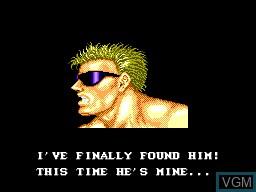 Menu screen of the game Forgotten Worlds on Sega Master System