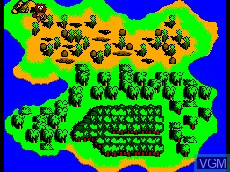 Menu screen of the game Dinobasher - Starring Bignose the Caveman on Sega Master System