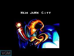 Menu screen of the game Earthworm Jim on Sega Master System