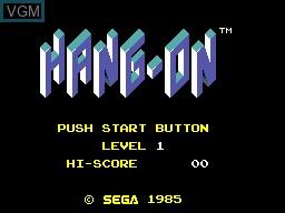 Menu screen of the game Hang-On & Safari Hunt on Sega Master System
