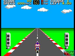 Menu screen of the game Hang-On on Sega Master System