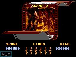 Menu screen of the game Indiana Jones and the Last Crusade on Sega Master System