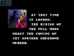 Menu screen of the game Master of Darkness on Sega Master System