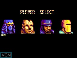 Menu screen of the game Masters of Combat on Sega Master System