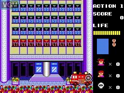 Menu screen of the game Megumi Rescue on Sega Master System