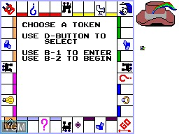 Menu screen of the game Monopoly on Sega Master System