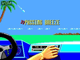 Menu screen of the game OutRun on Sega Master System