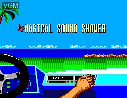 Menu screen of the game OutRun 3D on Sega Master System