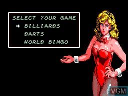 Menu screen of the game Parlour Games on Sega Master System