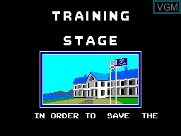 Menu screen of the game Poseidon Wars 3D on Sega Master System