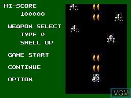 Menu screen of the game Power Strike 2 on Sega Master System