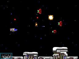 Menu screen of the game R-Type on Sega Master System