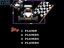 Menu screen of the game R.C. Grand Prix on Sega Master System