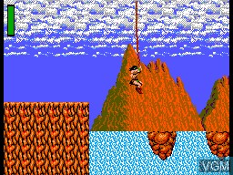 Menu screen of the game Rastan on Sega Master System