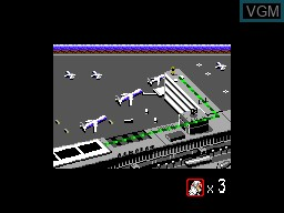 Menu screen of the game Shadow Dancer on Sega Master System
